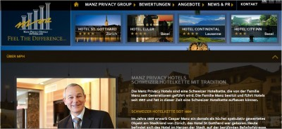 Website der Manz Privacy Group.