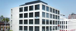 Der Hauptsitz der Alpha Rheintal Bank in Heerbrugg. Quelle: Alpha Rheintal Bank